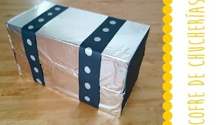 getlinkyoutube.com-Ideas para cumpleaños infantil. Cofre pirata lleno de golosinas