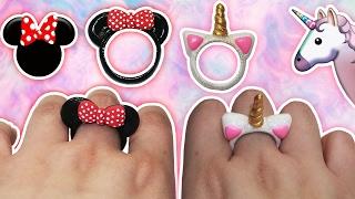 ♥ Tutorial: Anillos DIY de Mickey/Minnie Mouse y Unicornio CUTE ♥