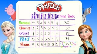 getlinkyoutube.com-Play Doh Lunchtime Creations Disney Frozen Peppa Pig Zelfs Cookie Monster Playdough Sweet Shoppe