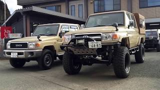 getlinkyoutube.com-Land cruiser 79 リフトアップ 幌