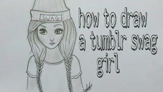 getlinkyoutube.com-How to draw a swag girl tumblr