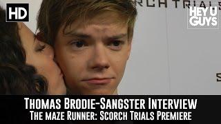 getlinkyoutube.com-Thomas Brodie-Sangster Interview - The Maze Runner: Scorch Trials Premiere