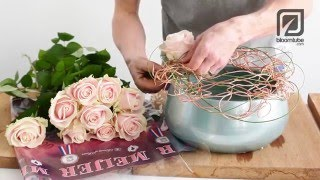 Flower arrangement Sweet Rosa Avalanche how to arrange tutorial