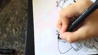getlinkyoutube.com-Desenhando Springtrap (homem purpura)