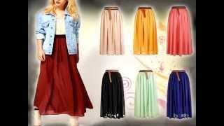 getlinkyoutube.com-Como combinar maxi faldas si eres bajita