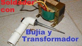 getlinkyoutube.com-Soldador de estaño con bujía diesel y transformador
