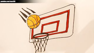 getlinkyoutube.com-How to draw a basketball hoop