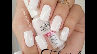 getlinkyoutube.com-Como esmaltar as unhas de branco sem manchar