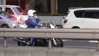 getlinkyoutube.com-白バイ神対応!違反しそうな対向車にマイクで警告&交通機動隊が何度も注意するも無視し続けた違反車に怒りの緊急走行炸裂!白バイ隊員フォーカス編!Motorcycle police