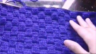 Cara merajut tas motif basket bag.3 (Bag.atas)