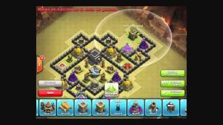 getlinkyoutube.com-Diseño de Aldea Ayuntamiento 9 Guerra de Clanes Clash of Clans