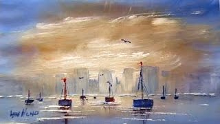 getlinkyoutube.com-Len Hend Painting Live Stream - Boats and perspective