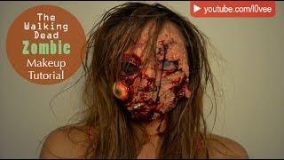 getlinkyoutube.com-The Walking Dead Zombie Makeup Tutorial   AskAshley