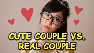getlinkyoutube.com-CUTE COUPLE VS. REAL COUPLE