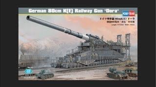 "getlinkyoutube.com-HobbyBoss 1/72 German 80cm K(E) Railway Gun 'Dora"" Scale Model Review"