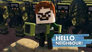 getlinkyoutube.com-Minecraft Baby Hello Neighbour - LITTLE KELLY & TINY TURTLE FIGHT THE NEIGHBOUR ARMY!
