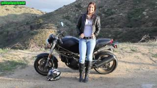 Biker Chick! A Gorgeous Female DUCATI Motorcycle Rider