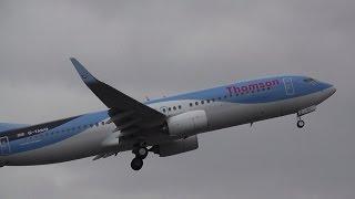 getlinkyoutube.com-THOMSON B737-800 G-TAWO  ABORTS LANDING @ doncaster sheffield airport