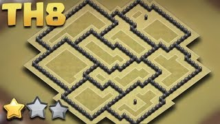 Town Hall 8 (TH8) THE BEST WAR BASE Anti-3 Star (AnTi Gowipe/Dragon/Goho) + Replays All Combo