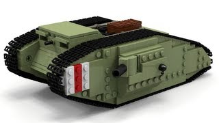 getlinkyoutube.com-Lego WWI Mark IV Tank Instructions