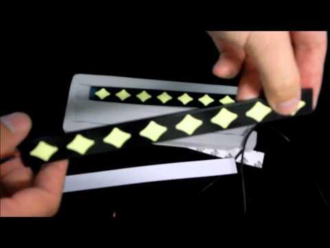 Дневные ходовые огни LED DRL COB ЗВЕЗДА  20 CM  Черный корпус