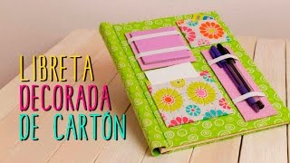 getlinkyoutube.com-Decora tus Libretas tipo Scrapbook | Ideas faciles con Cartón | Regreso a Clases - Catwalk Cartonaje