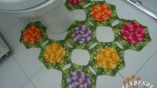 getlinkyoutube.com-Tapete do Vaso em Croche - Jogo de Banheiro Barbante - Aprendendo Crochê