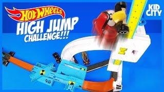getlinkyoutube.com-Hot Wheels HIGH JUMP Challenge with Batman Angry Birds & Disney Cars by KIDCITY