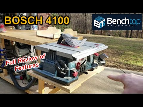 Review of the Bosch 4100 Table Saw Youtube Thumbnail