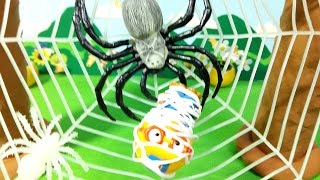 getlinkyoutube.com-거미줄에서 뽀로로를 구출하라! Save Pororo in spider web ★뽀로로 장난감 애니