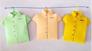 getlinkyoutube.com-Origami-Shirt: How to make paper shirt? วิธีพับเสื้อกระดาษ #PlayCraft#