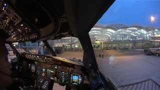 (ATC) Cockpit Takeoff and Landing Flight GIA288 WIMM-WARR (single cam)