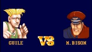 Street Fighter II SNES   Guile Vs. M. Bison   Hardest Setting (+ Best Ending)