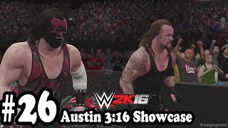 WWE 2K16 - 2K Showcase Austin 3:16 - Walkthrough Part 26  - Austin/HHH vs Kane / Undertaker [HD ]