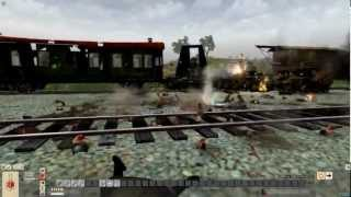 "getlinkyoutube.com-MEN OF WAR (PC): The Ambush of Railgun ""Bruno""  - Eastern Front July 1943"