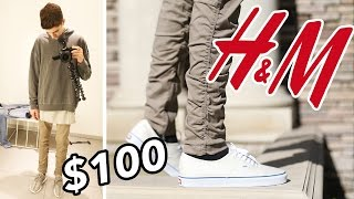 getlinkyoutube.com-THE $100 H&M OUTFIT CHALLENGE! OUTFIT FOR FALL!!