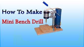 getlinkyoutube.com-How to make mini bench drill - DIY homemade