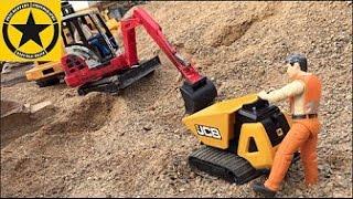 getlinkyoutube.com-BRUDER Toys Tunnel Project Episode 5 Caterpillar Excavator MACK DUMP TRUCK