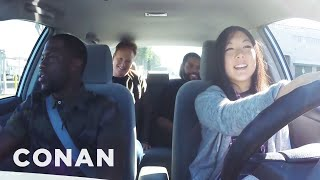 Ice Cube, Kevin Hart And Conan Help A Student Driver  - CONAN on TBS width=