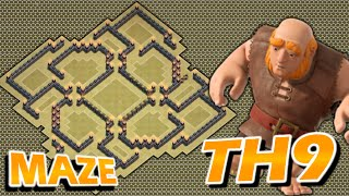 getlinkyoutube.com-Clash of Clans - TH9 Trophy Base - TH11 UPDATE - THE MAZE