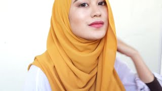 Side Loose Shawl Tutorial | Kiena Suhaimi