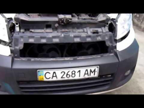 Расположение в Peugeot 107 радиатора кондиционера
