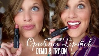 getlinkyoutube.com-Younique's Opulence Lipstick || Demo & Try-on || The Lash Babe