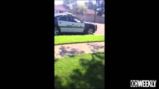 "getlinkyoutube.com-Police Brutality: Santa Ana Cop Puts Crying Boy in Chokehold ""Stop Speaking Spanish!"""