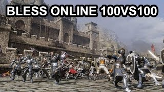 getlinkyoutube.com-Bless Online 100vs100 PvP Battlegrounds