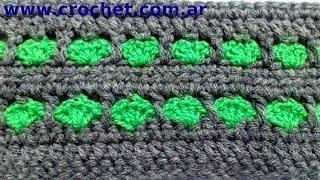 getlinkyoutube.com-Punto fantasía N° 2 en tejido crochet tutorial paso a paso.