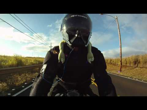 Darth Vader Custom Motorcycle Helmet on YAMAHA R1  GoPro HD Hero