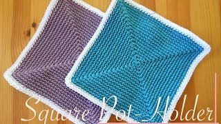 getlinkyoutube.com-Simple and Easy Square Crochet Pot-holder - Video Tutorial (left-handed)