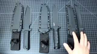 getlinkyoutube.com-Cold Steel GI Tanto, Leatherneck SF and Recon Tanto Knives