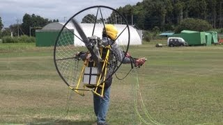 getlinkyoutube.com-Electric paramotor-03 First flight